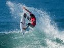 Julian Wilson getting air Hurley Pro 2017 third