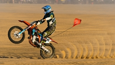 Motorcycle Wheelie Glamis Drags Paddle Tires