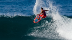 Meah Collins SuperGirl Pro surfing
