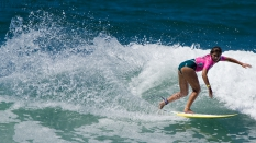 Shelby Detmers surfing SuperGirl Pro