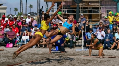 Brazil vs Uruguay Women Beach Handball