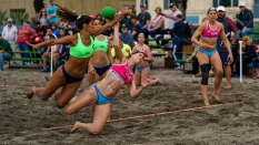Pan Am Beach Handball USA vs Argentina Women