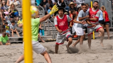 Los Angeles Beach Soccer Team scores against GoBeachSoccerPro 2019
