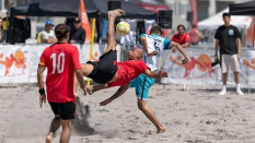 NorCal BSC Beach Soccer Club Bicycle Kick