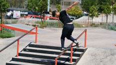 Back Side Nose Blunt SkateBoarding Alex Lobasyuk