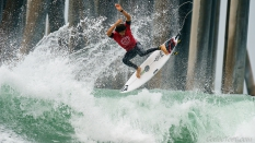 Backside air from Yago Dora 2019 US Open surfing contest