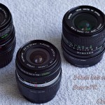 Photo of 24mm camera lenses: Vivitar Tokina Olympus H.Zuiko Canon FDn
