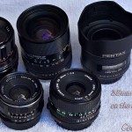 35mm lens testing, CanonFDn, Promatic, Pentax FA35, Pentax S-M-C Takumar, and the 35-80 Tamron SP zoom lenses.