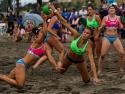 Beach Handball USA vs Argentina Women blocked shot