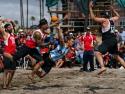 USA vs Argentina Men Beach Handball Blocked Shot