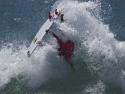 Sebastian Zietz surfer Seabass surfing Trestles fins out