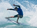 Jack Freestone surfing hard cutback Trestles