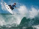 Josh Kerr getting air surfing