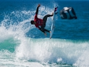 Gabriel Medina getting air surfing Hurley Pro first