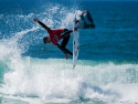 Gabriel Medina getting air surfing Hurley Pro second
