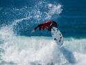 Gabriel Medina getting air surfing Hurley Pro third