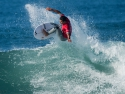 Julian Wilson getting air Hurley Pro 2017 second