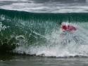 Kolohe Andino surfer tubed 2017