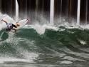 Leandro Usuna surfing US Open
