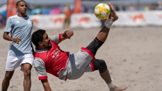 Los Angeles Beach Soccer Team Bicycle Kick US Pro Cup 2019