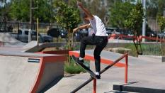 Austin Heilman Frontside Tail Slide Skateboarding