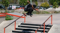 Devin Bagnoli Getting Air Skateboarding