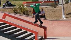 Skateboarding Tail Slide Going Wrong