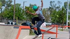 Terrill Jefferson Tail Slide Boardr AM Skateboarding