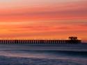 Oceanside California pier on a Santa Ana wind event, morning