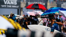 Getting ready for a heat at US Open of Surfing