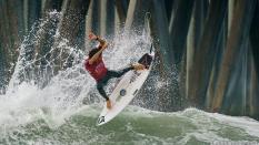 Yago Dora getting air surfing US Open